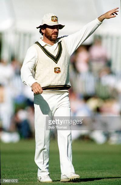 circa 1990 Allan Border the Australia captain