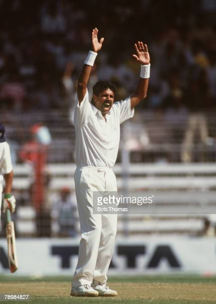 February 1993 3rd Test Match in Bombay India beat England by an innings and 15 runs Kapil Dev India makes a vociferous appeal Kapil Dev was the first...