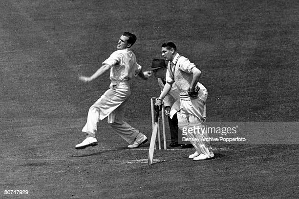 May 1950 Jim Laker England spin bowler who played for England in 46 Test matches between 19471959