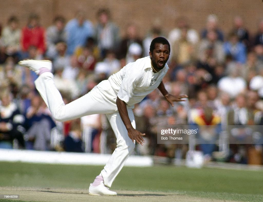 May 1984 Lancashire v West Indies at Liverpool Malcolm Marshall West Indies pace bowler