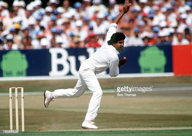 18th July 1990 Texaco 1 Day International at Headingley England beat India Kapil Dev India Kapil Dev was the first genuine pace bowler India produced...