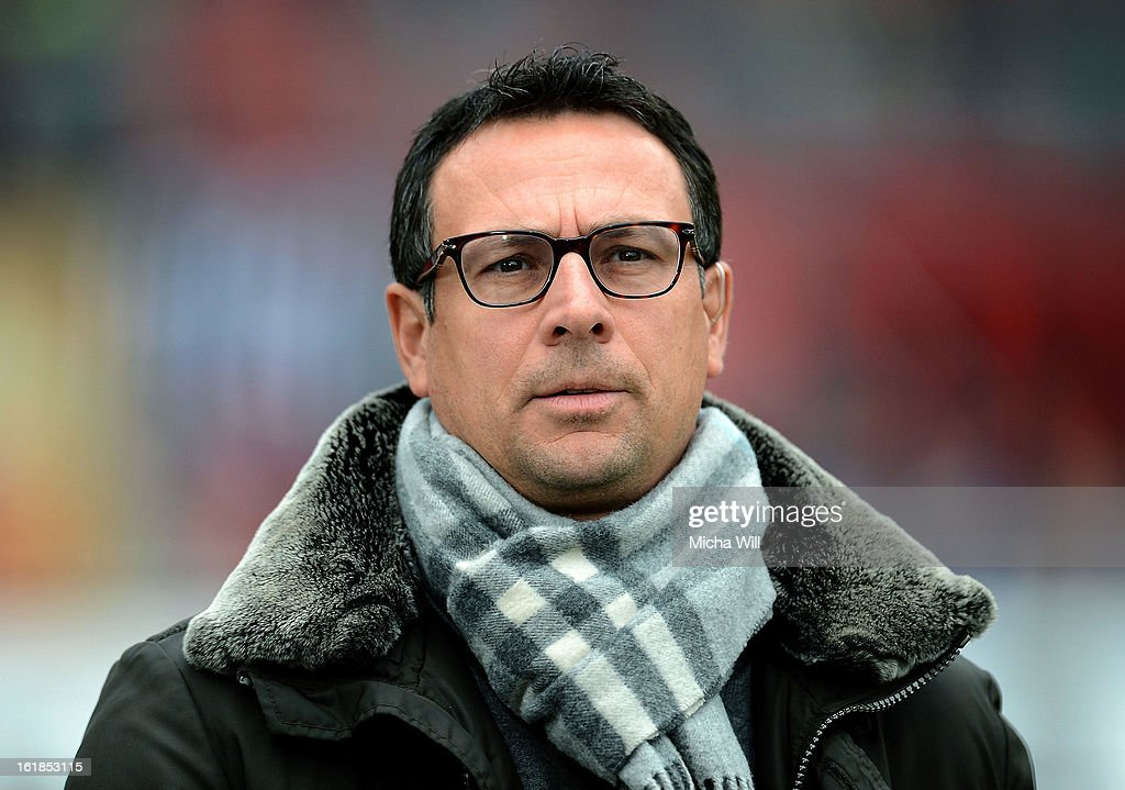 Sport Director and Vice President Martin Bader of Nuernberg looks on before the Bundesliga match between 1. FC Nuernberg and Hannover 96 at Grundig-Stadion on February 17, 2013 in Nuremberg, Germany.