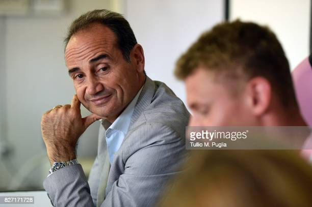 Sport Director Fabio Lupo answers questions during the presentation of Pawel Dawidowicz as new player of US Citta' di Palermo at Campo Tenente...