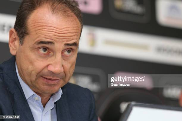 Sport Director Fabio Lupo answers questions during the presentation of Alberto Pomini as new player of US Citta' di Palermo at Campo Tenente Onorato...