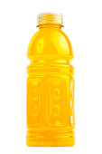 High resolution closeup of sport drink bottle isolated on white background
