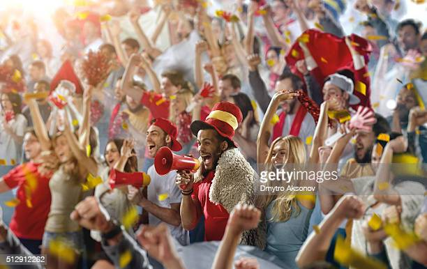 Sport fans: A man shouting