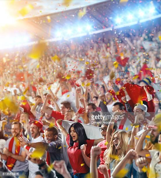 スポーツファン:な喜び群衆