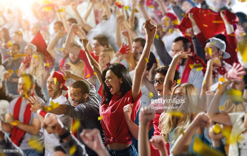 Sport fans : Stockfoto