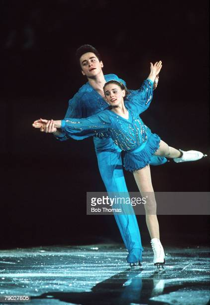 Sport Figure Skating Winter Olympics Calgary Canada 28th February 1988 Pairs USSR's Ekaterina Gordeeva and Serguei Grinkov are pictured on their way...