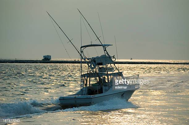 Sport Fishing Boat Heads Out to Sea