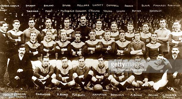 Sport Football 19101911 A group picture of the Bradford City Football Club squad pictured at Valley Parade by a photographer employed by the...