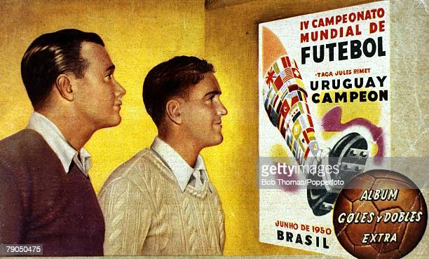 Sport Football 1950 World Cup Finals in Brazil Cover of a souvenir brochure produced to celebrate Uruguay's World Cup success as they defeated the...