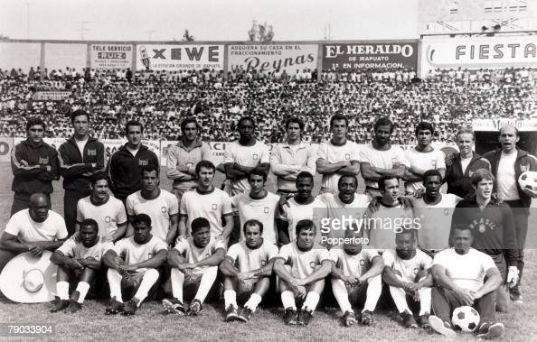 Sport Football 1970 World Cup Finals in Mexico May 1970 The Brazil squad shortly before the start of the tournament The players in the squad were...