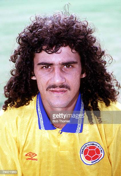 Sport Football 1990's Colombia's Leonel Alvarez