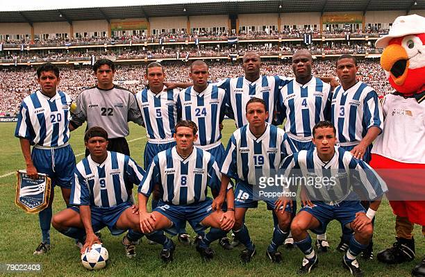 Sport Football 2002 World Cup Qualifier San Pedro Sula 7th October 2001 CONCACAF Finals Honduras 0 v Trinidad Tobago 1 The Honduras team line up...