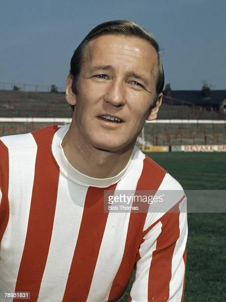 Sport Football 25th August 1972 Portrait of Peter Dobing of Stoke City