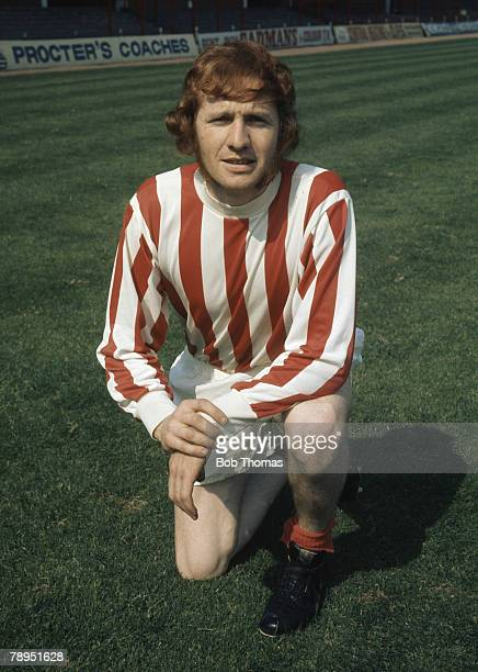Sport Football 25th August 1972 Portrait of Terry Conroy of Stoke City