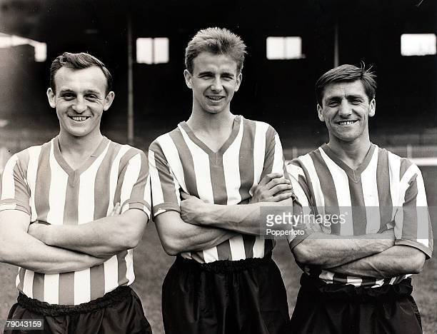 Sport Football 27th July 1960 Sheffield United players LR Roy Ridge Willie Hamilton and Bill Hodgson