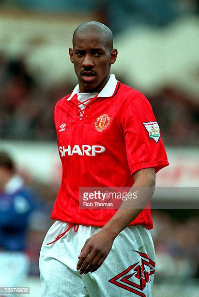 Sport Football April Dion Dublin of Manchester United