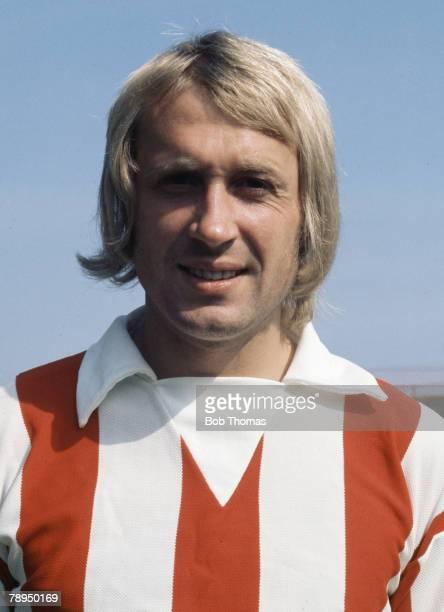 Sport Football August 1973 Portrait of Jimmy Greenhoff of Stoke City