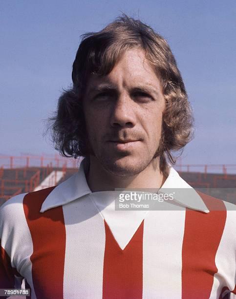 Sport Football August 1973 Portrait of Mike Pejic of Stoke City