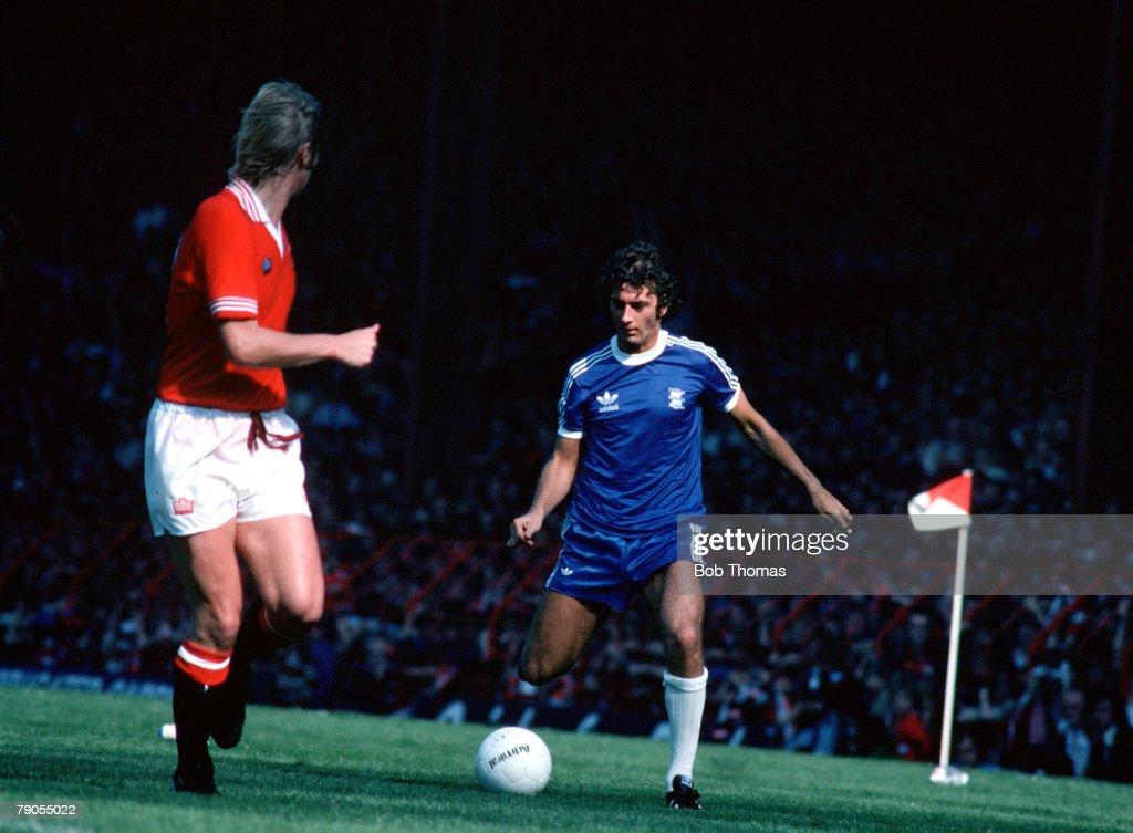 Sport Football Birmingham City v Man Utd Trevor Francis in action for Birmingham City 1978