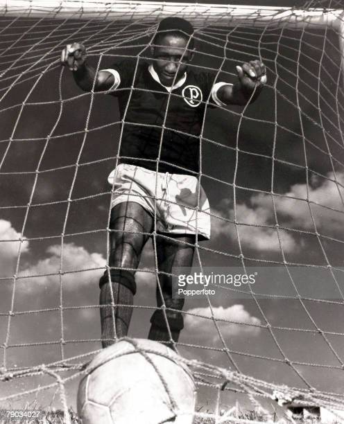 Sport Football Brazil star Djalma Santos in his Palmeiras colours He played in 4 World Cups for Brazil1958 1962 and 1966 and was a member of the...