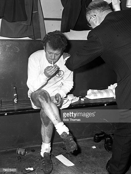 Sport Football Burnden Park Bolton England 26th March 1970 FA Cup SemiFinal Second Replay Leeds United 1 v Manchester United 0 Leeds captain Billy...