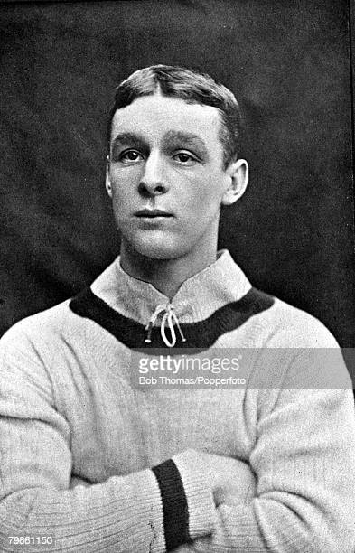 Sport Football circa 1905 A portrait of Harry Hampton the Aston Villa player who scored both goals in Aston Villa's 20 win over Newcastle United in...