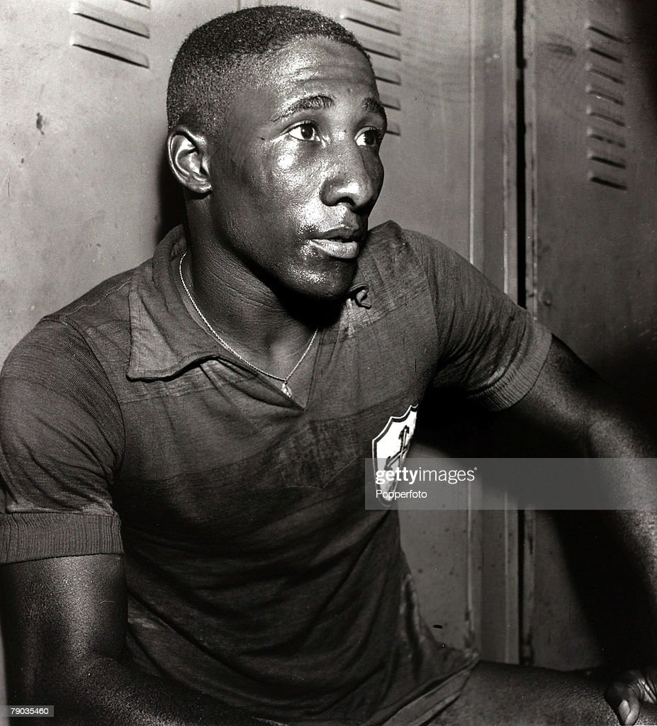 Sport Football circa 1957 Brazilian international Djalma Santos