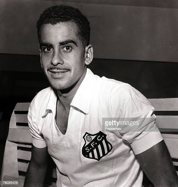 Sport Football circa 1964 Santos and Brazil international Zito pictured in his club strip Zito played in Brazil's World Cup winning teams of 1958 and...