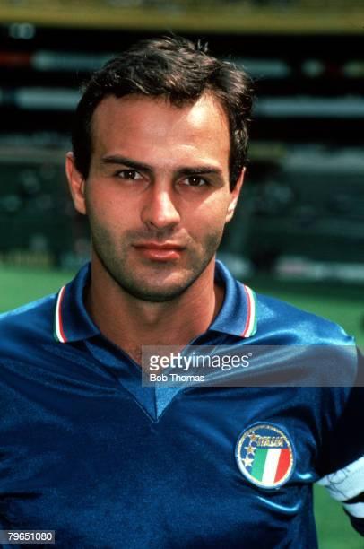 Sport Football Circa 1980's A portrait of Italy captain Antonio Cabrini