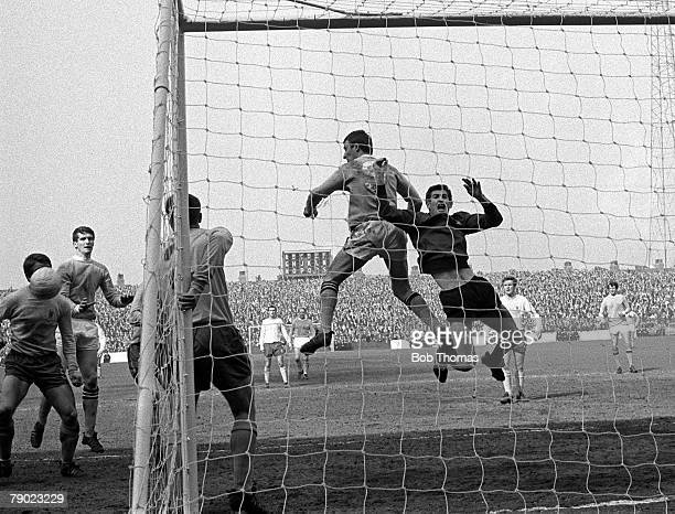 Sport Football England 12th April 1968 League Division One Manchester City 1 v Chelsea 0 Manchester City's Mike Summerbee challenges Chelsea...