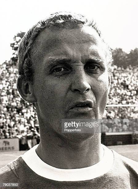 Sport Football England 20th August 1966 A portrait of Everton's Alex Young