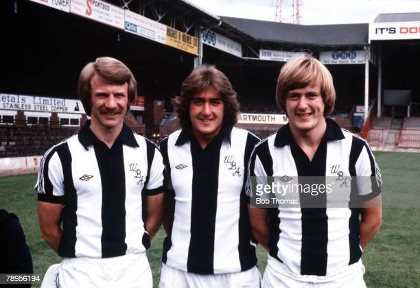 Sport Football England 20th July 1979 West Bromwich Albion's LR David Mills Gary Owen and Peter Barnes