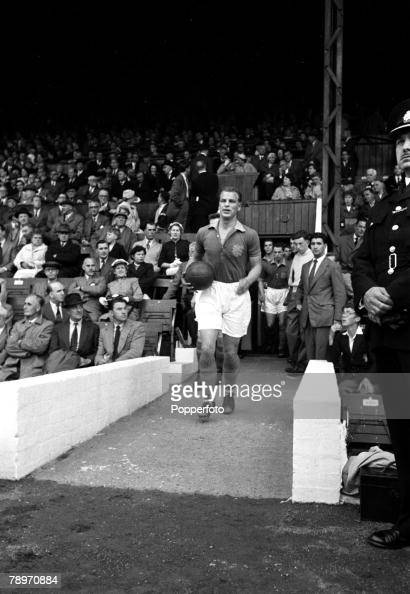 Sport Football England Leeds United's John Charles is pictured emerging from the players tunnel