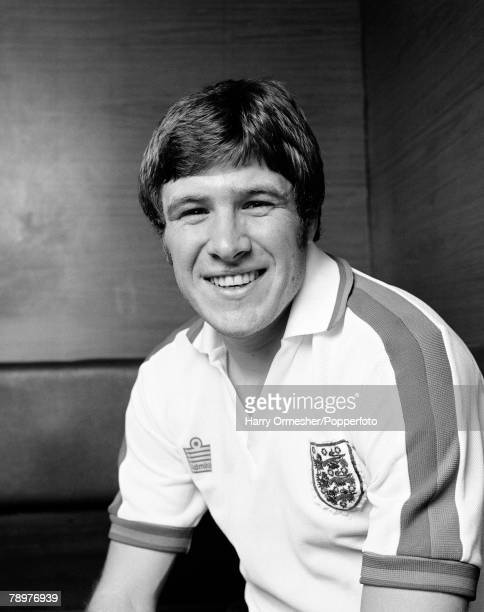 Sport Football England March 1975 Emlyn Hughes of Liverpool FC is pictured wearing his England kit