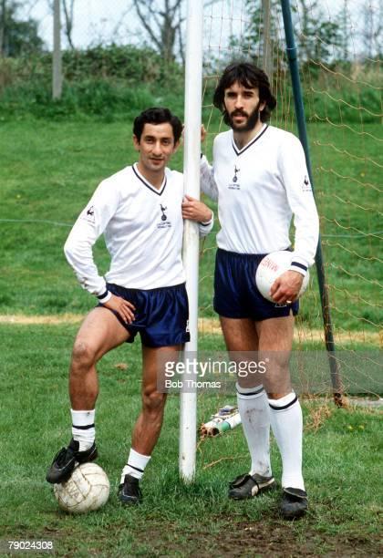 Sport Football England Tottenham Hotspur's Argentinian partnership of Osvaldo Ardiles and Ricardo Villa