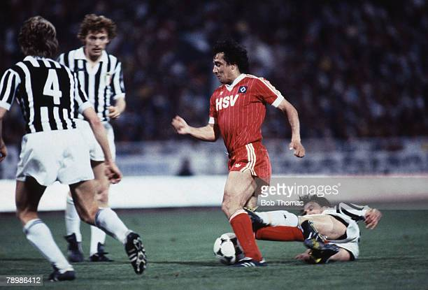 Sport Football European Cup Final Athens 25th May 1983 Hamburg 1 v Juventus 0 Hamburg's Felix Magath