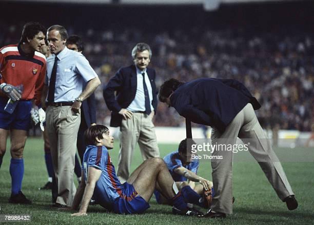 Sport Football European Cup Final Seville 7th May 1986 Steaua Bucharest 0 v Barcelona 0 Steaua won 2 0 on penalties Barcelona's manager Terry...