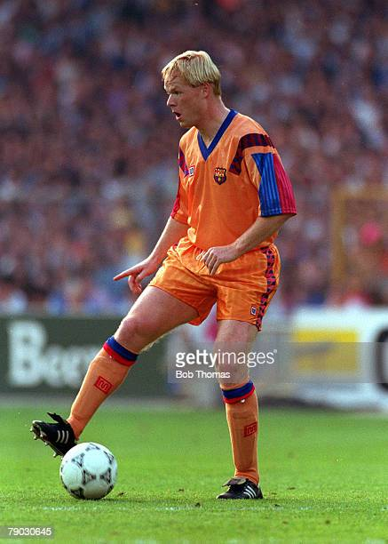 Sport Football European Cup Final Wembley London England 20th May 1992 Barcelona 1 v Sampdoria 0 Barcelona's Ronald Koeman