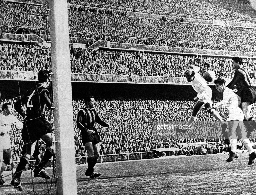 Sport Football European Cup Quarter Final Madrid Spain