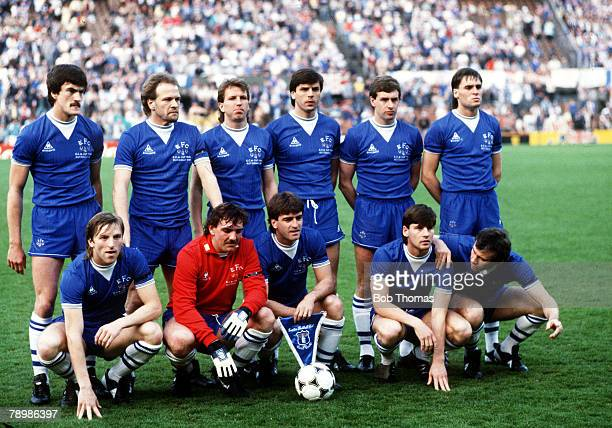 Sport Football European Cup Winners Cup Final Rotterdam Holland 15th May 1985 Everton 3 v Rapid Vienna 1 The Everton team line up before the match...