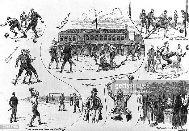 Sport Football FA Cup Final The Kennington Oval Surrey London England 30th March 1889 Preston North End 3 v Wolverhampton Wanderers 0 A composite...