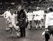 Sport Football FA Cup Final Wembley London England 5th May 1973 Sunderland 1 v Leeds United 0 Dejected Leeds United Manager Don Revie and his captain...