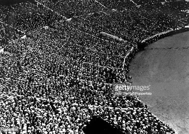 Sport Football FACup Final Wembley London England 24th April 1926 Bolton Wanderers 1 v Manchester City 0 Part of the large crowd of 91447 at Wembley...