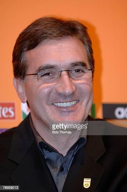 Sport Football FIFA World Cup 2006 Draw Leipzig Germany 9th December 2005 Iran head coach Branko Ivankovic