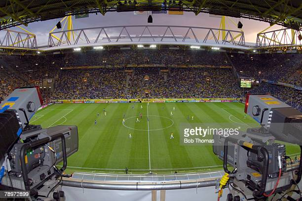 Sport Football FIFA World Cup Dortmund 22nd June 2006 Japan 1 v Brazil 4 The FIFA World Cup Stadium in Dortmund venue for the Brazil v Japan match...