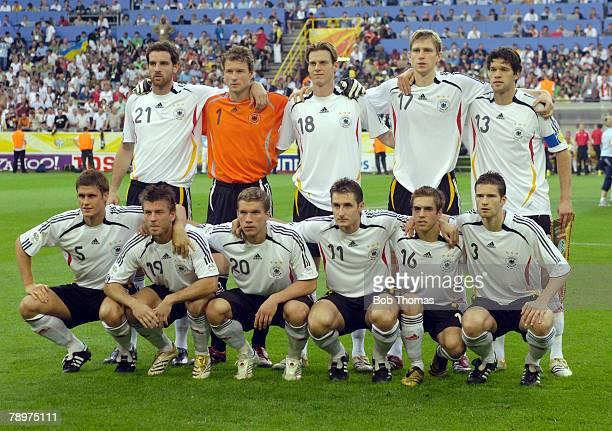 Sport Football FIFA World Cup Dortmund 4th July 2006 Semi Final Germany 0 v Italy 2 Germany team group Back row leftright Christoph Metzelder Jens...