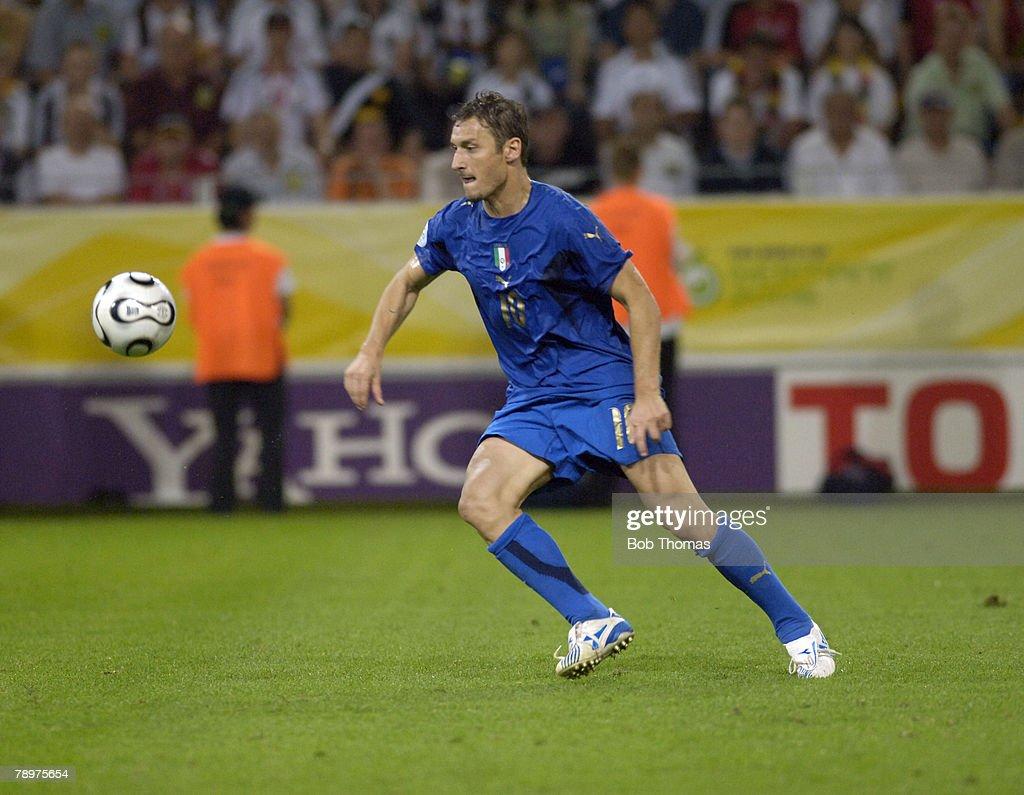 Sport Football FIFA World Cup Dortmund 4th July 2006 Semi Final Germany 0 v Italy 2 Francesco Totti Italy